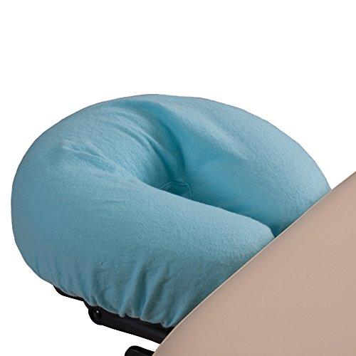 Preisvergleich Produktbild EARTHLITE Deluxe Flanell Kopfstützenbezug (2 Stück) - Waschbarer Kopfbezug aus 100% Baumwolle für Massageliegen,  Massage,  Kopfpolster,  Nackenkissen BLAU