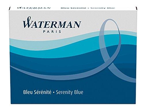 Preisvergleich Produktbild Waterman Tintenpatrone Standard Packung mit 8 Stück Serenity, blau