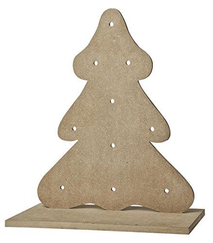 ... VBS Deko Weihnachtsbaum Für 10er Lichterkette 38x32,5x18cm Aus MDF Holz  Mit Standfuß