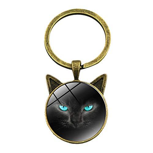Tonpot Mechanische Katze Schlüsselanhänger, einfach und niedlich, Schlüsselanhänger, Geschenk für Freunde, Frauen und Mädchen, Legierung, D, 5.5 * 2.5cm