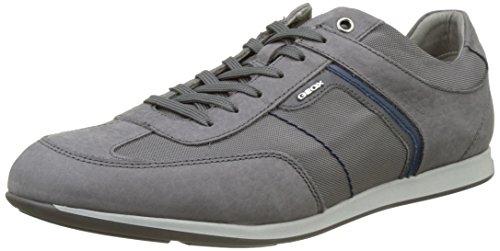 Geox U Clemet B, Sneakers Basses Homme Gris (Anthracitec9004)