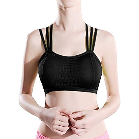 Ularma Yoga algodón sólida envoltura pecho correa chaleco sujetador de las mujeres
