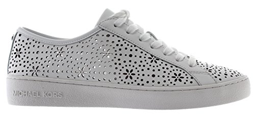 Michael Kors Optic White, Zapatos de Cordones Oxford para Mujer, Blanco (Irving Lace Up 43r8irfs1l), 39 EU