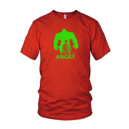 I'm always Angry - Herren T-Shirt Rot