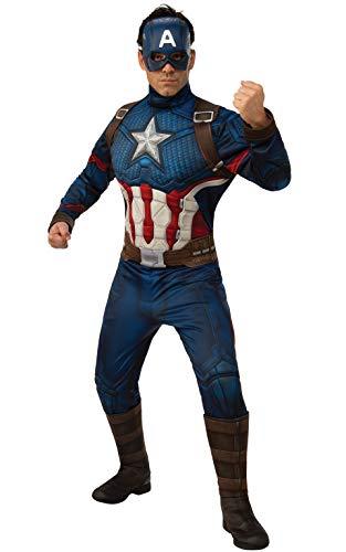 Für Erwachsene The Kostüm Avengers - Rubie's Offizielles Avengers Endgame Captain America, Deluxe Erwachsene Herren Kostüm