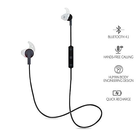 LB World Bluetooth-Sport-Kopfhörer, kabellose In-Ear-Kopfhörer, mit Geräuschunterdrückung, Schweißfeste Bluetooth-Kopfhörer für Fitnessstudio, Laufen, Wandern, Joggen, Spaziergänge und generelle Bewegung, mit integriertem Mikrofon, für iPhone, Samsung Galaxy und andere Android-Handys