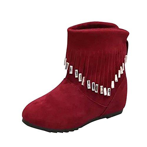 Sale Stiefel Damen Casual, Sonnena Herbst Quaste Martin Stiefel Klassische Flache Rutschfeste Boots...