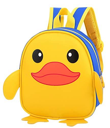 DEMU Kinderrucksack Mini Tier Cartoon Schule Tasche Rucksäcke 3D Karikatur Ente Kindergarten Blau