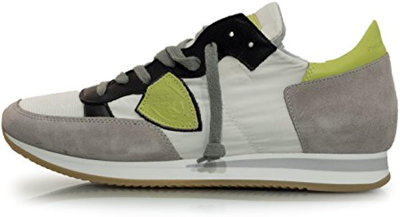 Philippe Model Herren Sneaker WhiteLime  Billig und erschwinglich Im Verkauf