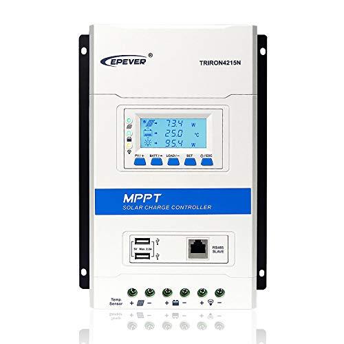 EPEVER MPPT Solarladeregler 40A 12V / 24V Auto Solarpanel Laderegler Regler Max PV 150V Max Array Leistung 520W / 12V; 1040W / 24V