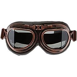 Gafas de sol del té de hojas de cobre de deporte al aire libre Motocross Racer - Marrón