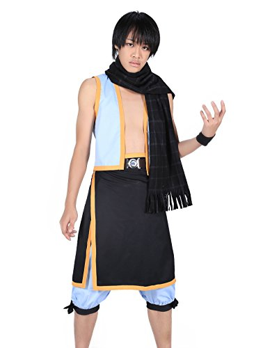 De-Cos Fairy Tail Salamander Dragon Slayer Dragneel Natsu Outfit V2 (Slayer Dragon Kostüm)