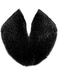 Futrzane Cuello Mujer Bufanda de Piel de Zorro Sintética