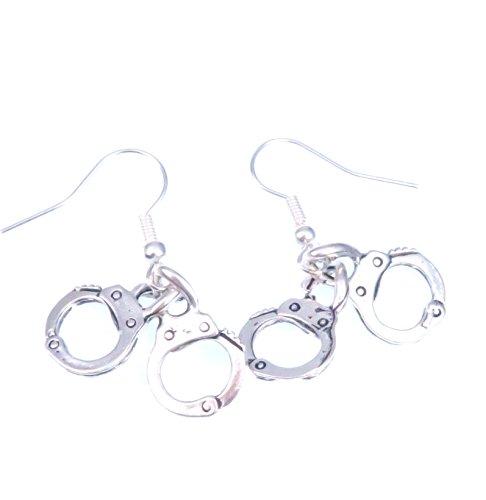 Handschellen Ohrringe silber-farben Ohrschmuck