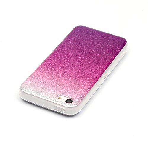 MOONCASE Ultra-thin TPU Silicone Housse Coque Etui Gel Case Cover Pour iPhone 5C Argenté Rose Rouge