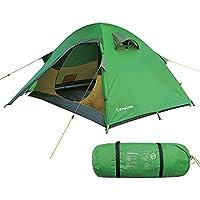 KingCamp Tenda da campeggio con doppio strato, impermeabile, Tessuto Ripstop Antistrappo, per 2 Persone, Ultraleggera, 210 x 265 x 110
