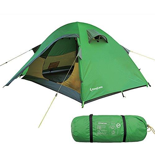 KingCamp Seine Ripstop-Nylon-Camping-Zelt mit Zwei Schichten, Leichtes Zelt für bis zu Zwei Personen, Ideal für Drei Jahreszeiten, Outdoor-Zelt für Camping, Backpacking und vielem Mehr