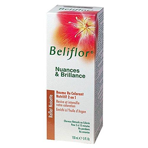 Beliflor09-Nuances et Brillance 2 en 1 coloration douce + baume capillaire 'Reflets Noisette' BIO-150ml