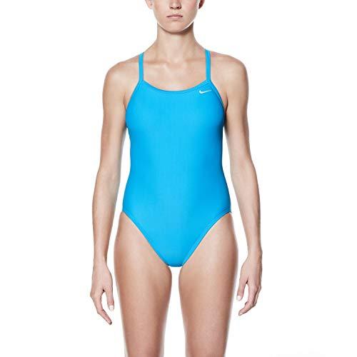Nike Swim Solid Racerback One Piece Women lt Blue Fury Größe US 32 | DE 36 2018 Schwimmanzug - Nike Badeanzug Damen