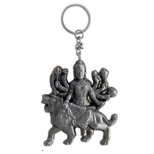 The Marketvilla God Keychains Ambe Maa Laxmi Ma Devi Durga Keychain With Metal Ring For Kids, Men Women Boys & Girls  available at amazon for Rs.125