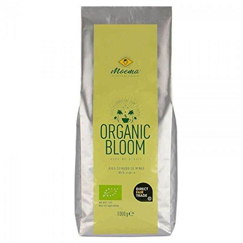 MOEMA - Café Orgánico Premium - Organic Bloom - Café de filtro de cuerpo entero de Brasil - Comercio Justo Directo - 100% Arábica Orgánico - Origen único - tostado suave en tambor - 1000g de granos enteros