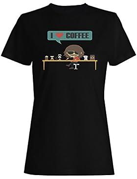 Amante del café camiseta de las mujeres h123f