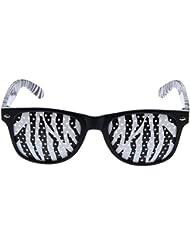EOZY Gafas Para Chico Y Chica Con Agujero Plástico De Adolescentes Ajustable (Raya De Cebra Y Lente Raya De Cebra)