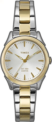 Timex TW2P81900 – Reloj de cuarzo para mujeres, bicolor
