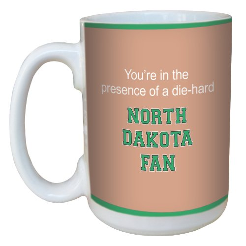 Tree-Free Greetings lm44820 North Dakota College Basketball Ceramic Mug with Full-Sized Handle, 15-Ounce Dakota Basketball