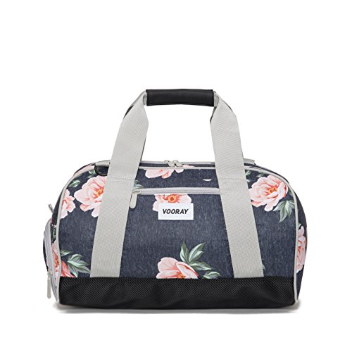 vooray-burner-16-compact-gym-bag-rose-navy