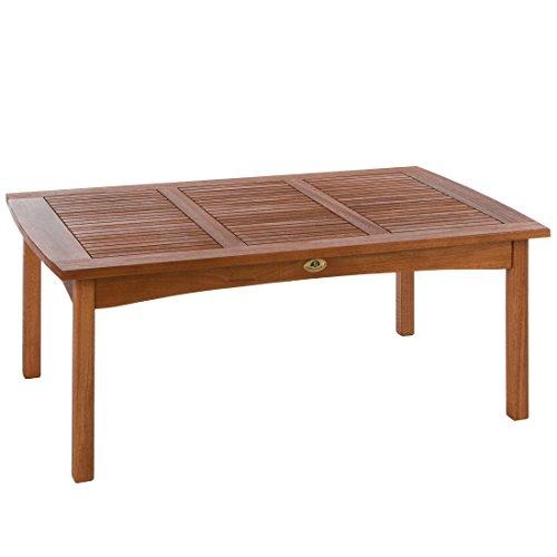 Ultranatura Table Lounge, Gamme Canberra - Élégant Bois d'Eucalyptus de Qualité Supérieure Certifié Fsc - 110 X 70 X 47 Cm