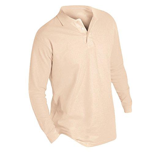 SOLS Herren Winter II Pique Langarm-Shirt / Polo-Shirt, Langarm Sand