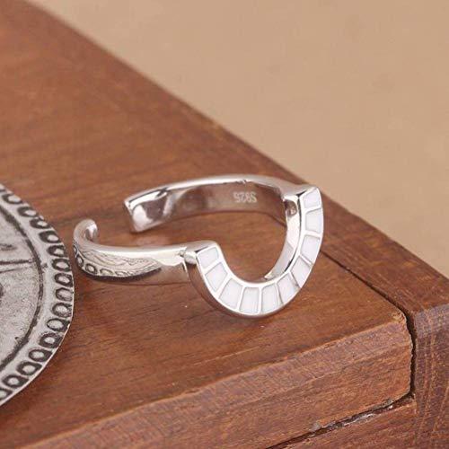 Emaille-gel (Elegant Dress Kleine Frische S925 Sterling Silber Ring Mädchen Persönlichkeit Emaille 胶 Gel-Ring, um Seine Freundin zu Senden, Öffnungscode)