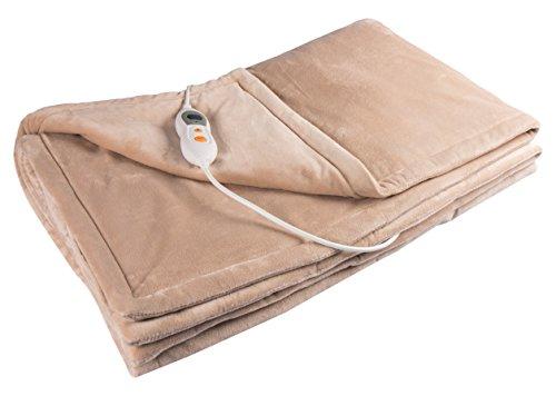 Preisvergleich Produktbild Vidabelle Elektrische Kuschel-Wellness Heizdecke premium,  maschinenwaschbar,  mit 6 Temperaturstufen + Überhitzungsschutz in beige