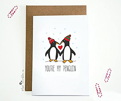 Sweet Christmas Card - You're My Penguin (Xmas Edition)