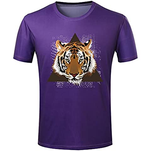 Vector Tiger Head Logo Men's Graphic Print T shirt