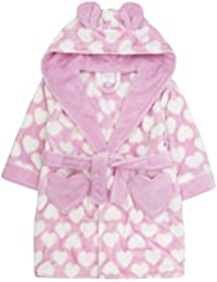 f3f7404220 ... Children's Clothing : Minikidz. Girls / Childs Heart Printed Fleece Robe  / Dressing Gown 3 Colours