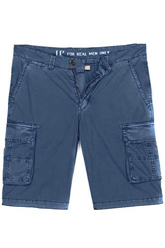 JP 1880 Herren große Größen bis 70, Cargo-Bermuda, Cargotasche, Garment Dyed, Gerader Schnitt, Normale Oberschenkel- und Beinweite, Blue Denim 60 720249 92-60