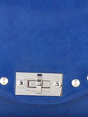 Butterflies Handtasche Kunstleder Damen Geldbeutel Beiläufiger Umhängetasche Blau