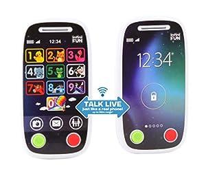 Infinifun 10418, Walkie de Primer Teléfono, Blanco