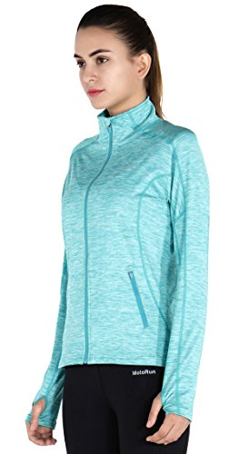 MOTORUN Veste de sport Femme Réfléchissant Running Zippé Noir Bleu Violet Rouge Pour Fitness Bleu