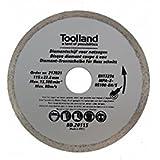 TOOLLAND–bd20115Disque à tronçonner diamant, continu, 115mm de diamètre (Lot de 100)