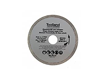 TOOLLAND – bd20115 Disque à tronçonner diamant, continu, 115 mm de diamètre (Lot de 100)