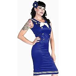 Horror-Shop Marinero Pin-up Vestido XL / 42