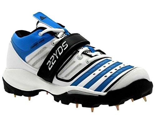 adidas Twenty2yds Mid IV Herren Cricket Schuhe Stiefel D67043 Weiß/Blau/Schwarz NEU & OVP Gr. 50 2/3 -