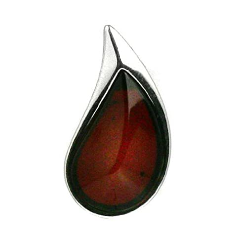 Cherry Amber Sterling Silver Drop of Blood Slider Pendant