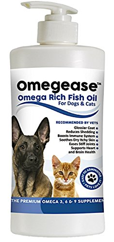 100% Pure Omega 3, 6 & 9 Fish Oil for Dogs and