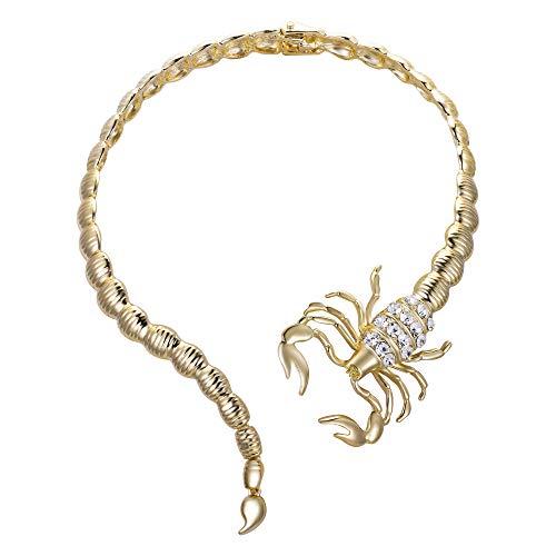 EVER FAITH Damen Vintage Stil Schlange Tier Lätzchen Choker Chunky Aussage Kragen Halskette Goldene Farbe (Stil3)