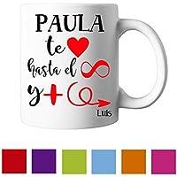 Regalo original Pareja San Valentín/Taza Personalizada/Enamorados/Hombre/Mujer/Chico/Chica/Novia/Novio/Aniversario/Cumpleaños