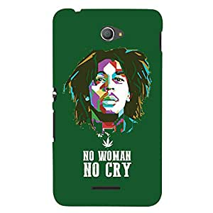 ColourCrust Sony Xperia E4 Mobile Phone Back Cover With No Woman No Cry Quirky - Durable Matte Finish Hard Plastic Slim Case